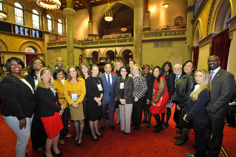 March 13, 2017 – Women Builders Council hosted their 2017 Albany Lobby Day on Monday, March 13, 2017.  WBC represents women in the construction industry and provides services such as legislative advocacy, new business development and professional development with a special focus on leadership. Assembly Member Seawright met new members and discussed investing in New York's infrastructure in the 2017 budget.<br />