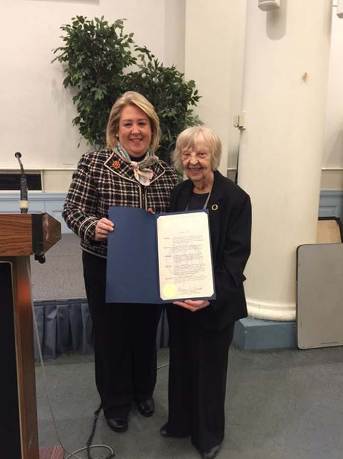 Feb 11, 2017 – Seawright presents the President Emeritus of the Women's Alliance, Mary-Ella Holst, with a New York State Assembly Citation for her dedication to the community. Holst is also the President of the church's Historical Society, and retired Director of Religious Education.<br />
