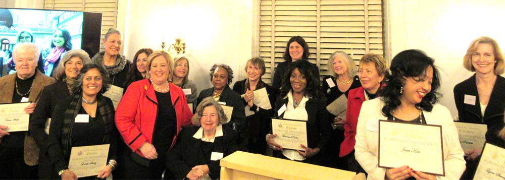 "March 16, 2017 – On the evening of Thursday, March 16 2017, Assembly Member Rebecca Seawright's Third Annual Women of Distinction Awards to commemorate Women's History Month was held at the Regina Peruggi Room at Marymount Manhattan College.<br /><br />Seawright honored twenty-one women who have demonstrated hard work, commitment, and dedication to making our community a better place. Award recipients included Michele Birnbaum, Eva Bosbach, Judy Buck, Mary Coleman, Maureen Fairlie, Linda Heimer, Sherie Helstien, Wendy L. Hersh, Jean Kim, Dara Lamb, Jacqueline Ludorf, Valerie S. Mason, Dr. Marilyn Mehr, Sonia Ossorio, Barbara Parker, Liz Patrick, Joyce Short, Louella Streitz, Lynne Strong-Shinozaki, Dr. Betty Walker, and Dr. Elaine M. Walsh. <br />This year holds monumental significance as the 100 year anniversary of the Suffrage Movement, which Seawright spoke to as a turning point in American History. ""We have to stop thinking of history as a closed book, a story with an end, because as women, our story is not nearly over. There are exciting new chapters still to be written,"" Seawright said.<br />"