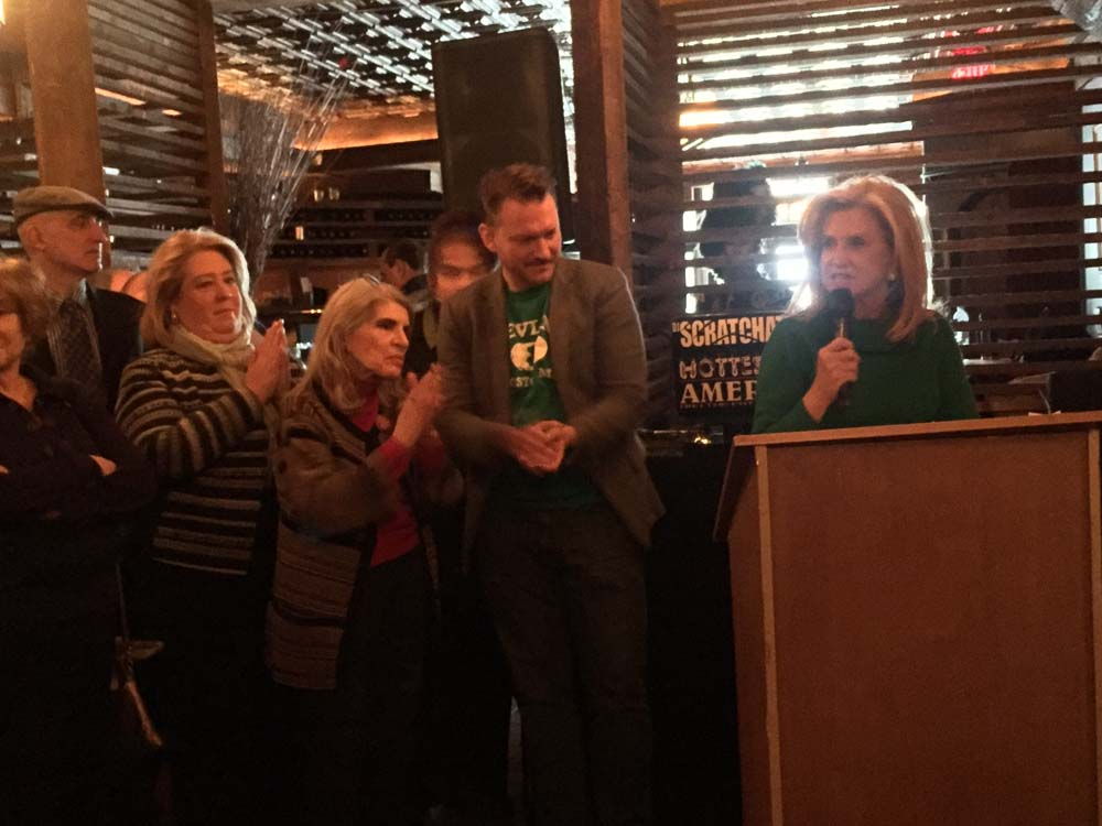 March 17, 2017 – Seawright with Congresswoman Carolyn Maloney and Upper East Siders at St. Patrick's Day Breakfast.<br />