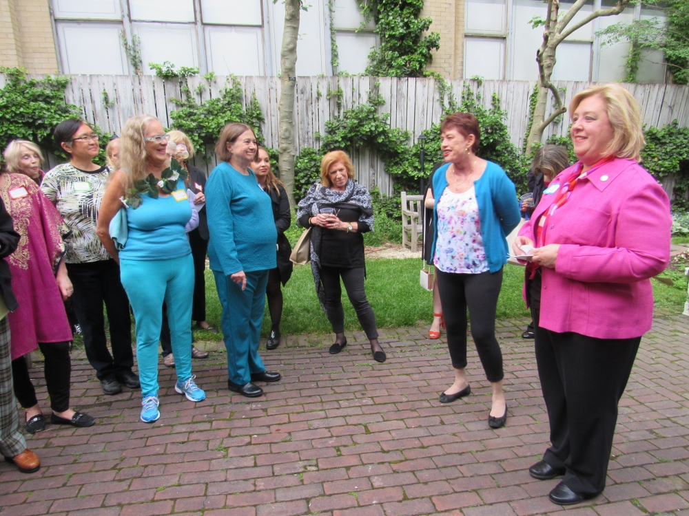 Assembly Member Rebecca Seawright and Upper Green Side's Sarah Gallagher thanking the community of gardeners for their dedication to preserving nature and for coming together to beautify our neighborhood.<br /><br />On Wednesday, May 24th, Seawright hosted the Garden Party with the Upper Green Side, Councilmember Dan Garodnick, and Councilmember Ben Kallos. Garden lovers from the Upper East Side and Roosevelt Island gathered at Mount Vernon Hotel Museum to share green thumb wisdom, tips, and ideas. Tell us where you garden!<br />