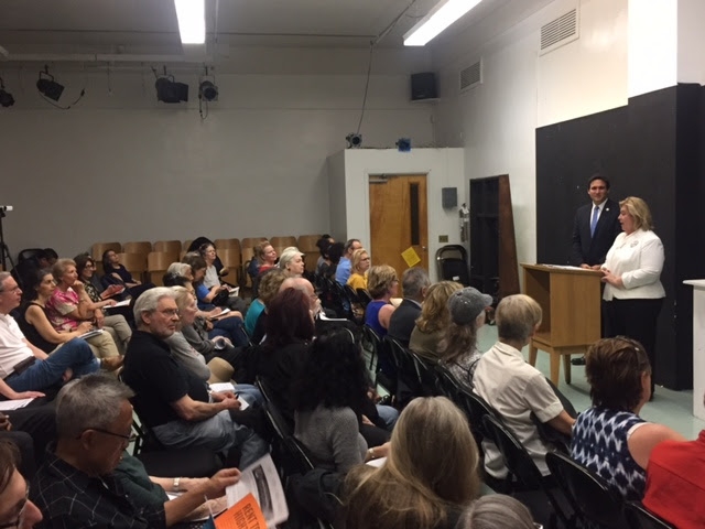 At the public housing forum, tenant's rights, rent increase exemptions, and RGB rent roll back were among the topics covered. The event was held at the Julia Richman Education Complex and hosted by Council Member Ben Kallos, Senator Liz Krueger, and Borough President Gale Brewer.<br /> <br />