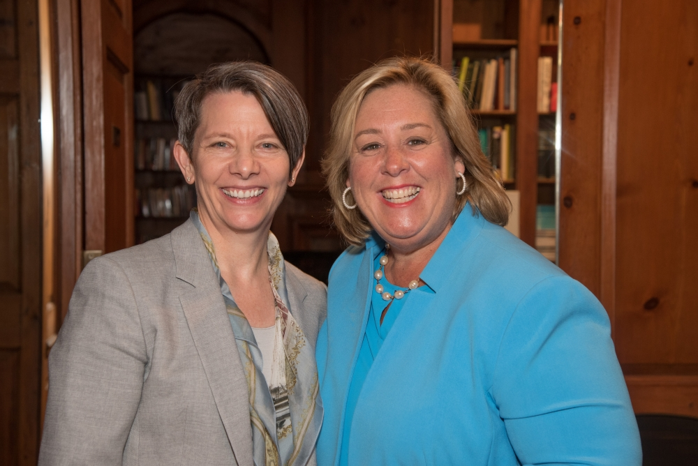 Assembly Member Seawright with Marymount Manhattan College President Kerry Walk at the Andrea Jung Lecture.<br />