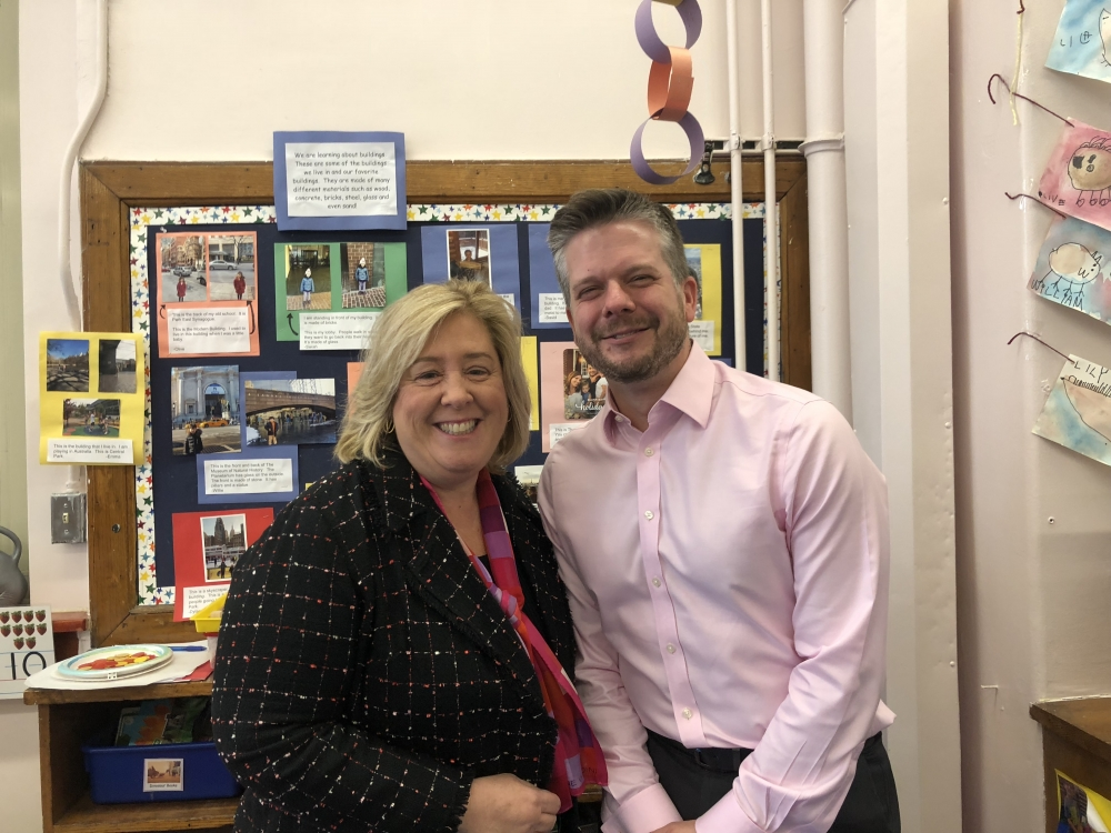 Seawright meets with Mr. Martin, principal of PS 183. <br />