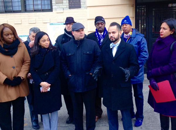 Assembly Member Latoya Joyner, along with local elected officials, called for more clean fuel conversions for Bronx buildings.