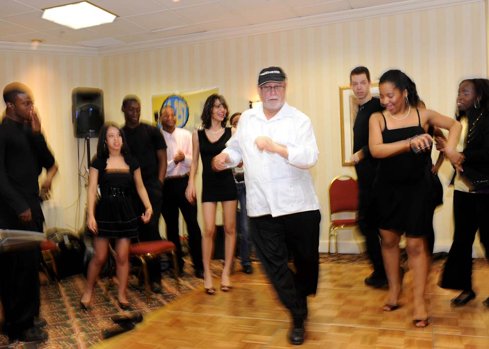 Dancing Salsa is one of Mr. Rivera's many talents.<br />