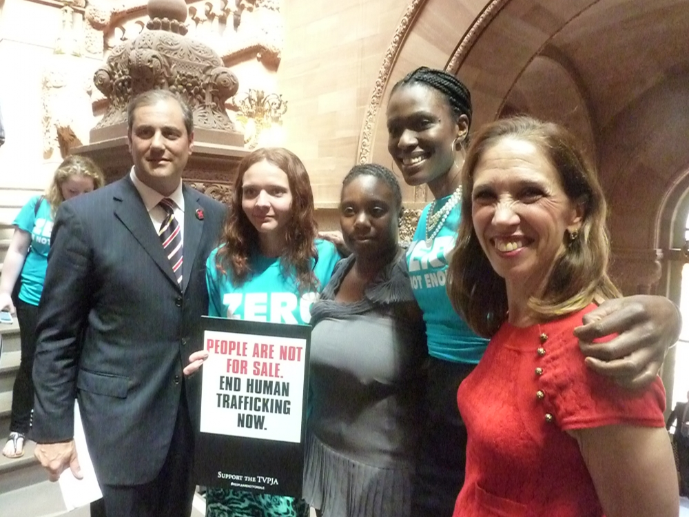 Assemblywoman Paulin was joined by trafficking survivors and advocates on June 17.
