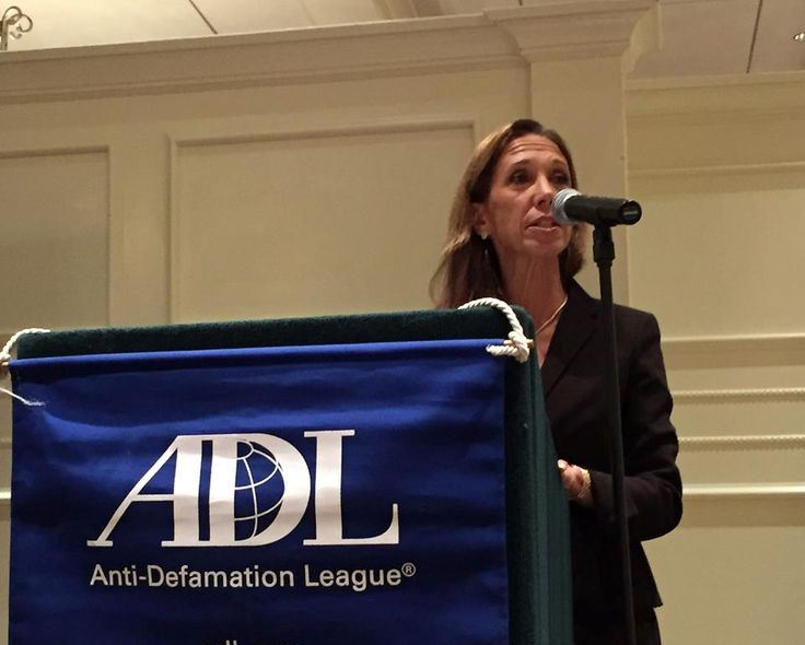 Amy Paulin was the keynote speaker at the Westchester ADL dinner.