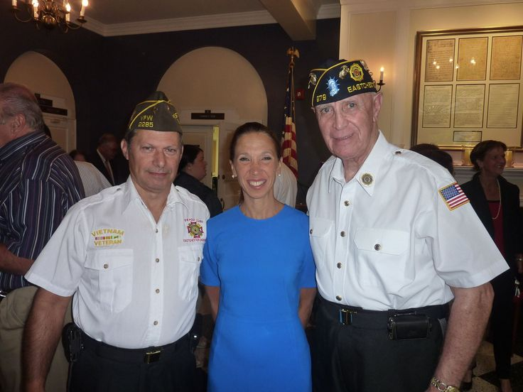 Amy Paulin with veterans at the Eastchester 9/11 Memorial Service.