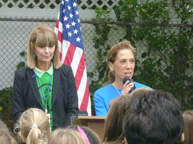 Amy Paulin was at the Anne Hutchinson School in Eastchester for the Green Ribbon Award Ceremony. The school is the only one in the state to receive this prestigious honor, which is the result of all t