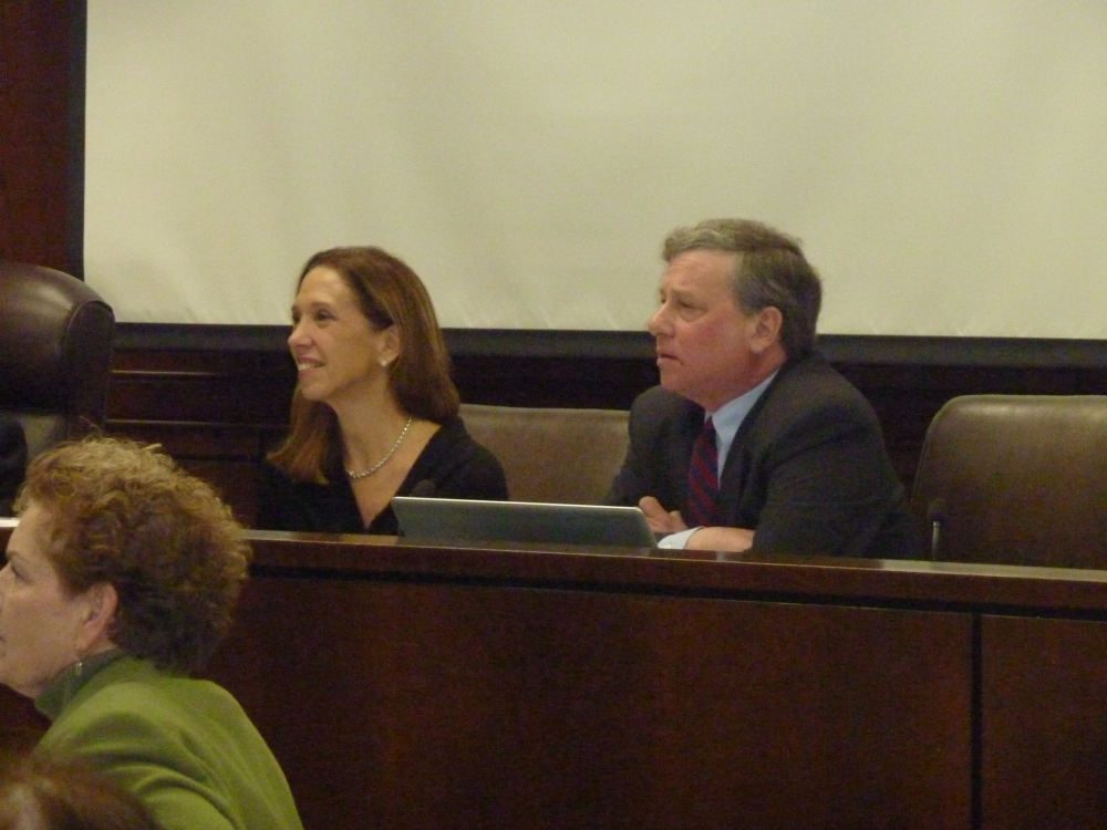 Amy Paulin and Assemblyman Steve Otis interviewing NYS Board of Regents candidates.