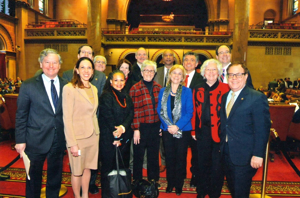Amy Paulin hanging out in Albany with her fellow Westchester Municipal officials.