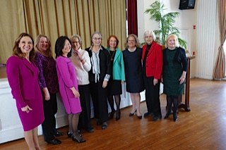 Amy Paulin handed out the Bronxville Women of Distinction Awards on March 22. It marked the second consecutive year in which she has honored women from a town in her district. Last year it was Pelham.