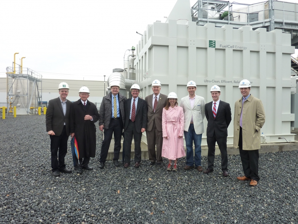 Assemblywoman Paulin, in her capacity as NYS Energy Chair, visited the Dominion Bridgeport Fuel Cell site in Bridgeport, Ct. on April 7. She was joined by other legislators and politicians from New Yo