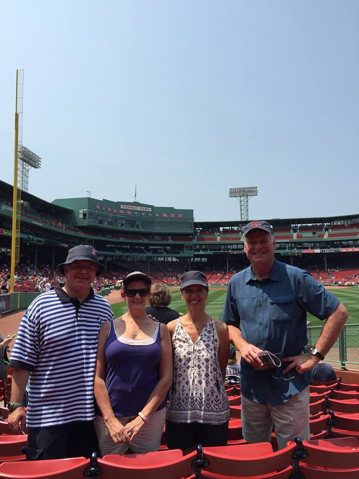 Assemblywoman Amy Paulin at Fenway Park with her Assembly colleagues