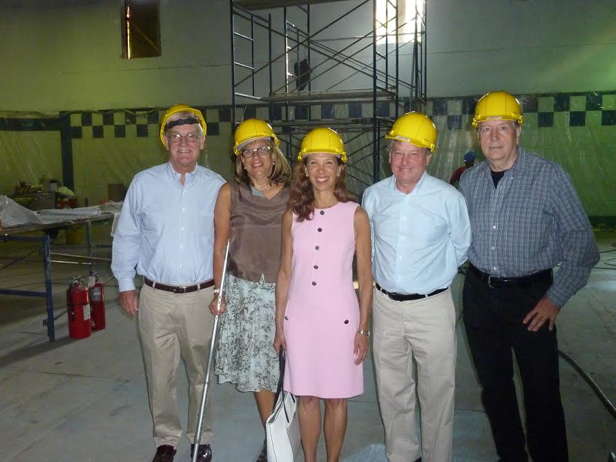 Assemblywoman Amy Paulin and Assemblyman Steve Otis were at the New Rochelle YMCA on Sept. 1 to check on the reconstruction of the center's pool. Paulin and Otis were instrumental in securing funds fo