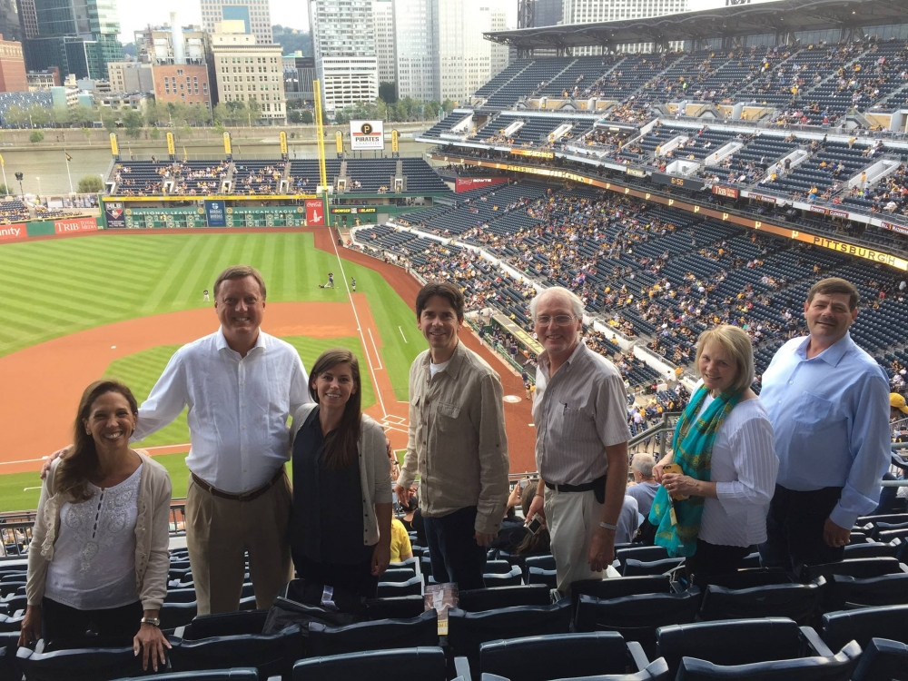 Assemblywoman Amy Paulin at PNC Park in Pittsburgh. Paulin was in Pittsburgh with colleagues for a conference as part of her duties as New York State Energy Chair and took an evening break to watch th