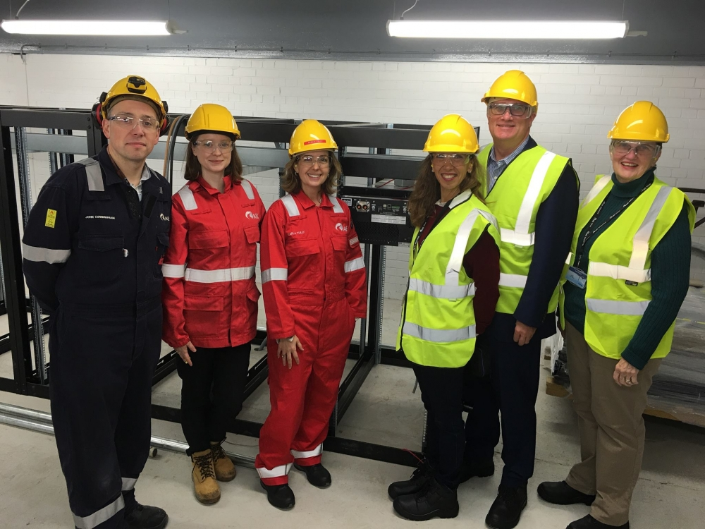 Assemblywoman Amy Paulin in Northern Ireland at AES with fellow Assembly member Brian Kavanagh to learn about the country's new battery storage project.