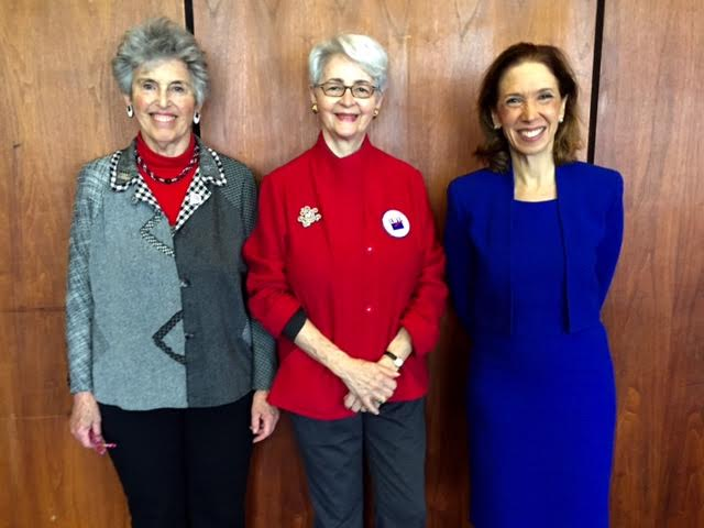 Assemblywoman Amy Paulin was joined by Elizabeth Rosenthal, M.D. from Physicians for a National Health Program and Madeline Zevon Health Care Chair for the League of Women Voters of Westchester at the