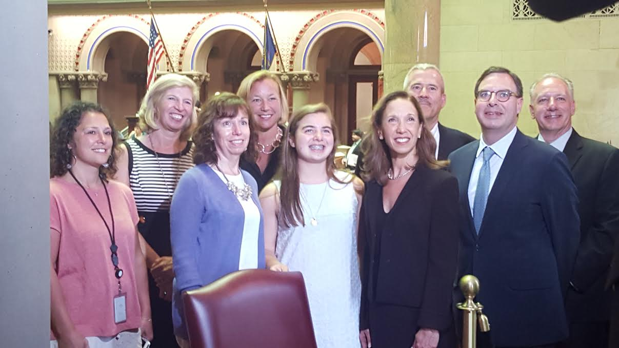 Pelham's Sarah Jane O'Connor came and visited Assemblywoman Amy Paulin in Albany on June 6. O'Connor was the winner of Paulin's