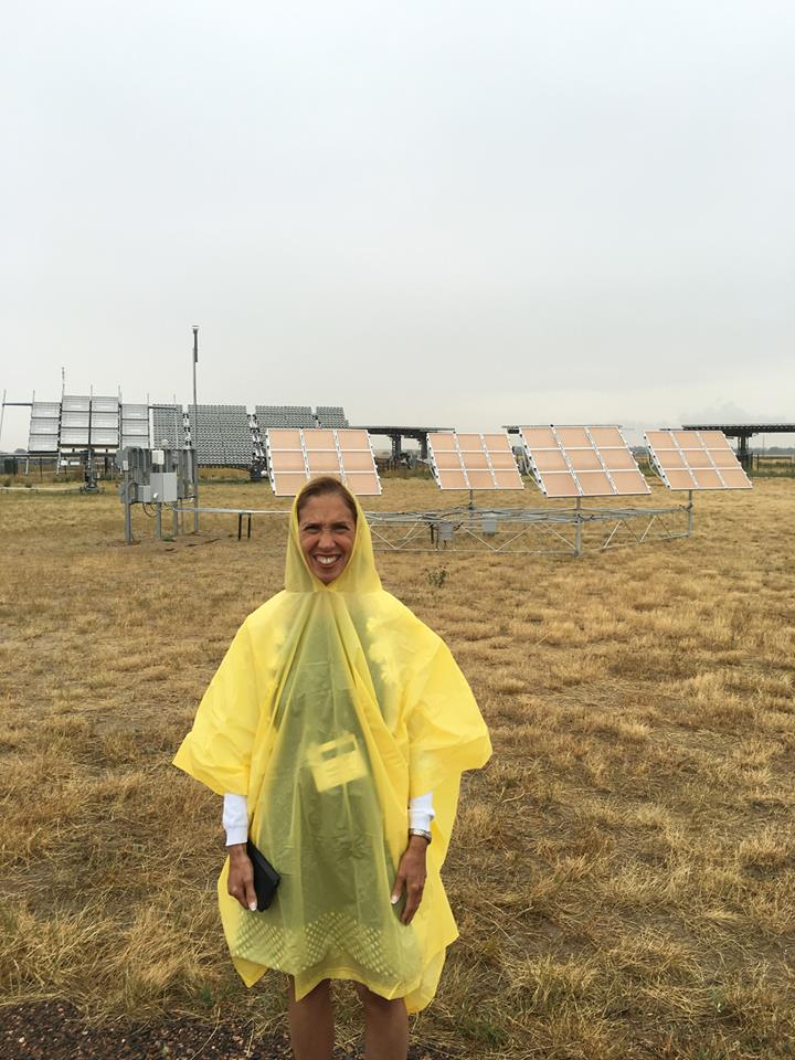 Assemblywoman Amy Paulin, who is the NYS Energy Committee Chair, attended an energy conference in Denver. She visited a solar farm as part of the conference but Mother Nature wasn't cooperating.