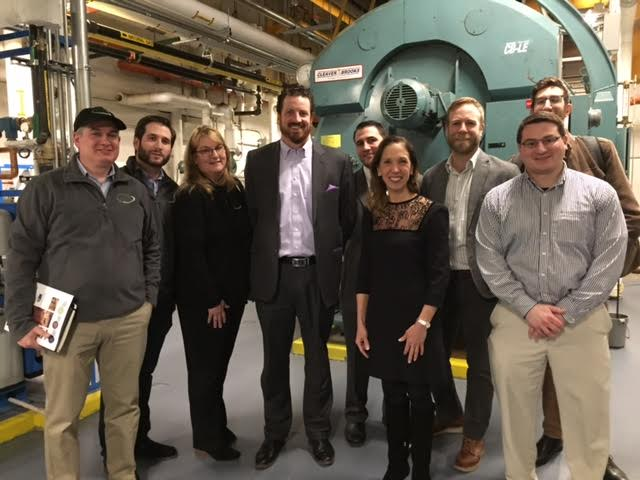 Assemblywoman Amy Paulin, the chair of the New York State Energy Committee, went to Avalon Bay Fort Greene in Brooklyn to learn about combined heat and power systems.