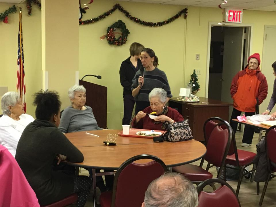 Assemblywoman Amy Paulin handed out holiday cookies to the seniors in White Plains.