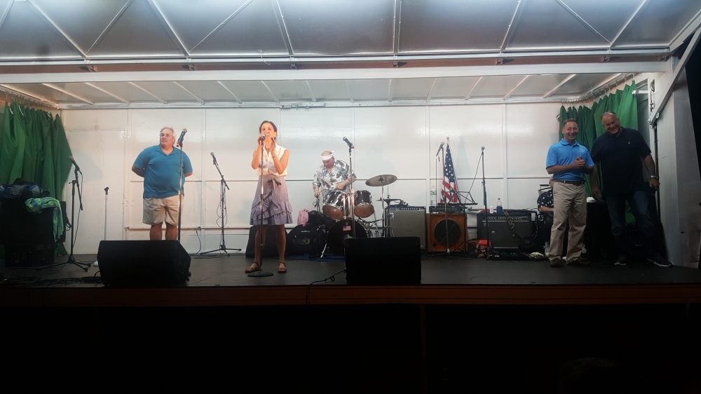 Assemblywoman Amy Paulin spoke at the Grucci Fireworks Show in Tuckahoe.