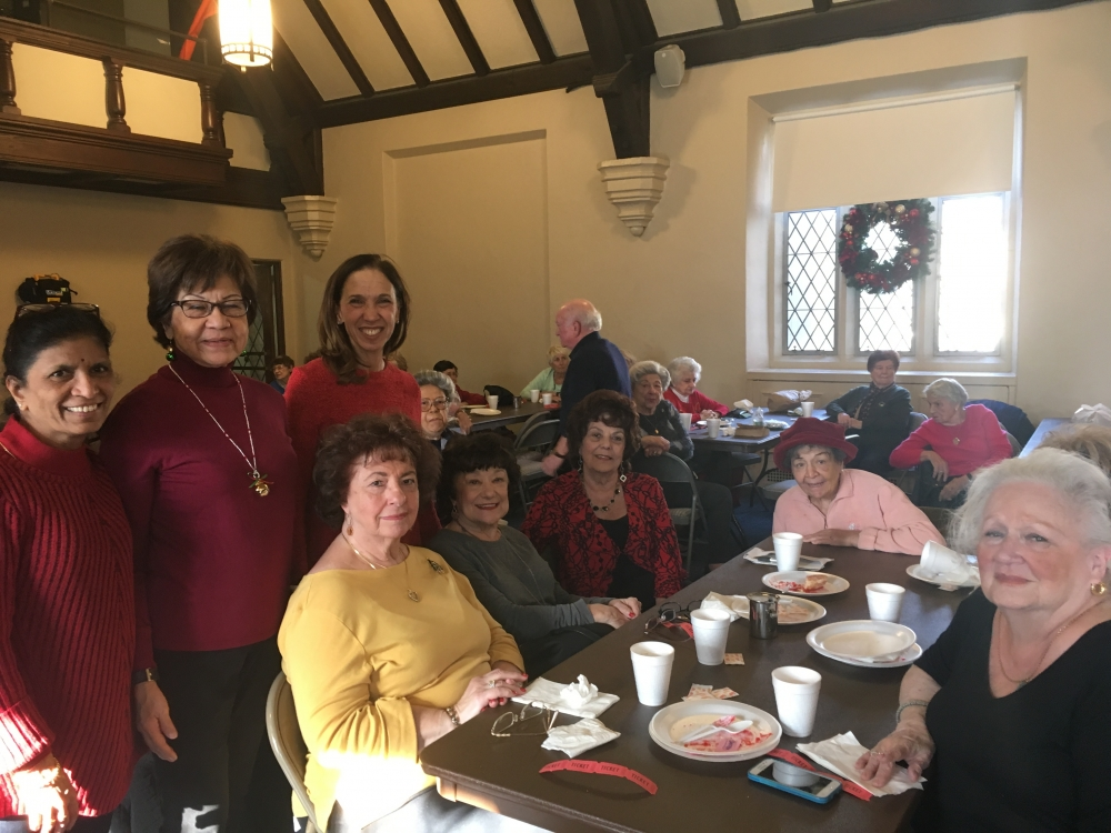 Assemblywoman Amy Paulin delivered holiday cookies to the Pelham Seniors.