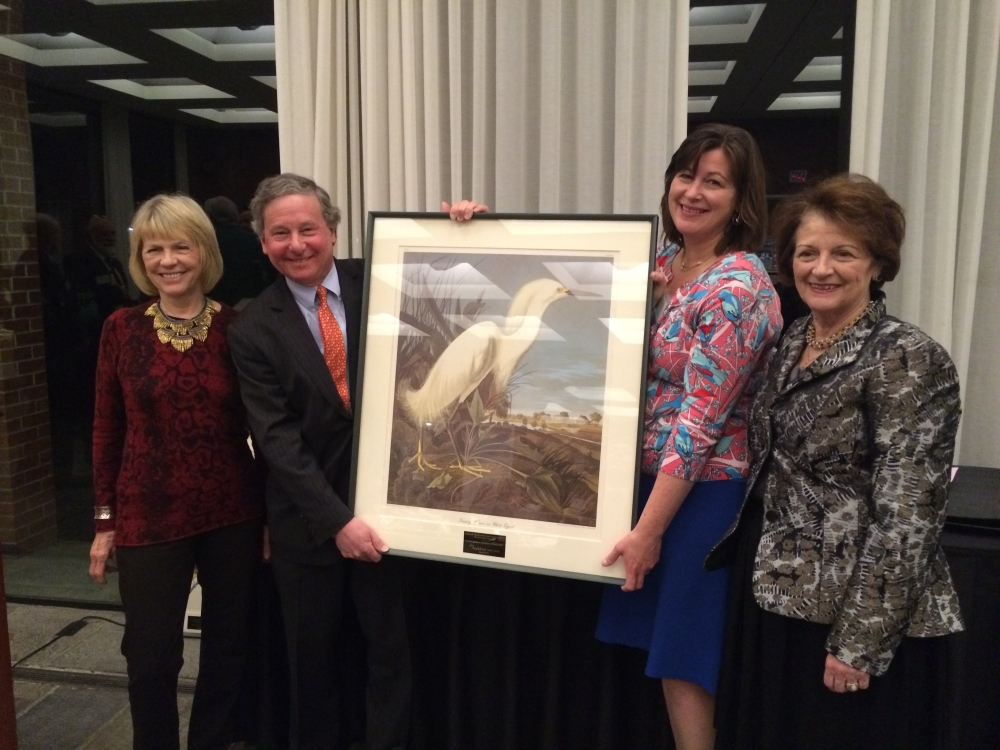 Assemblyman Steve Otis presented the 2016 William Hoyt Environmental Excellence Award by Virginia Stowe, Board Chair of Audubon New York, Erin Crotty, Executive Director of Audubon New York and Marcy