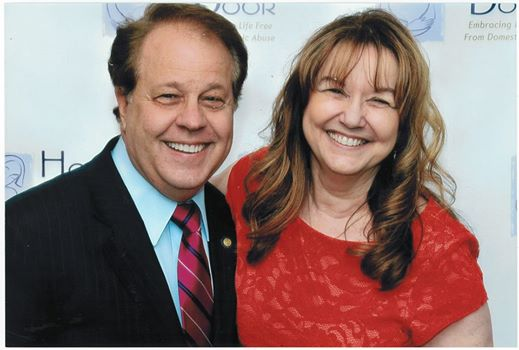 Hope's Door: Assemblyman Abinanti attended the Hope's Door Gala in Tarrytown with Executive Director Carla Horton.