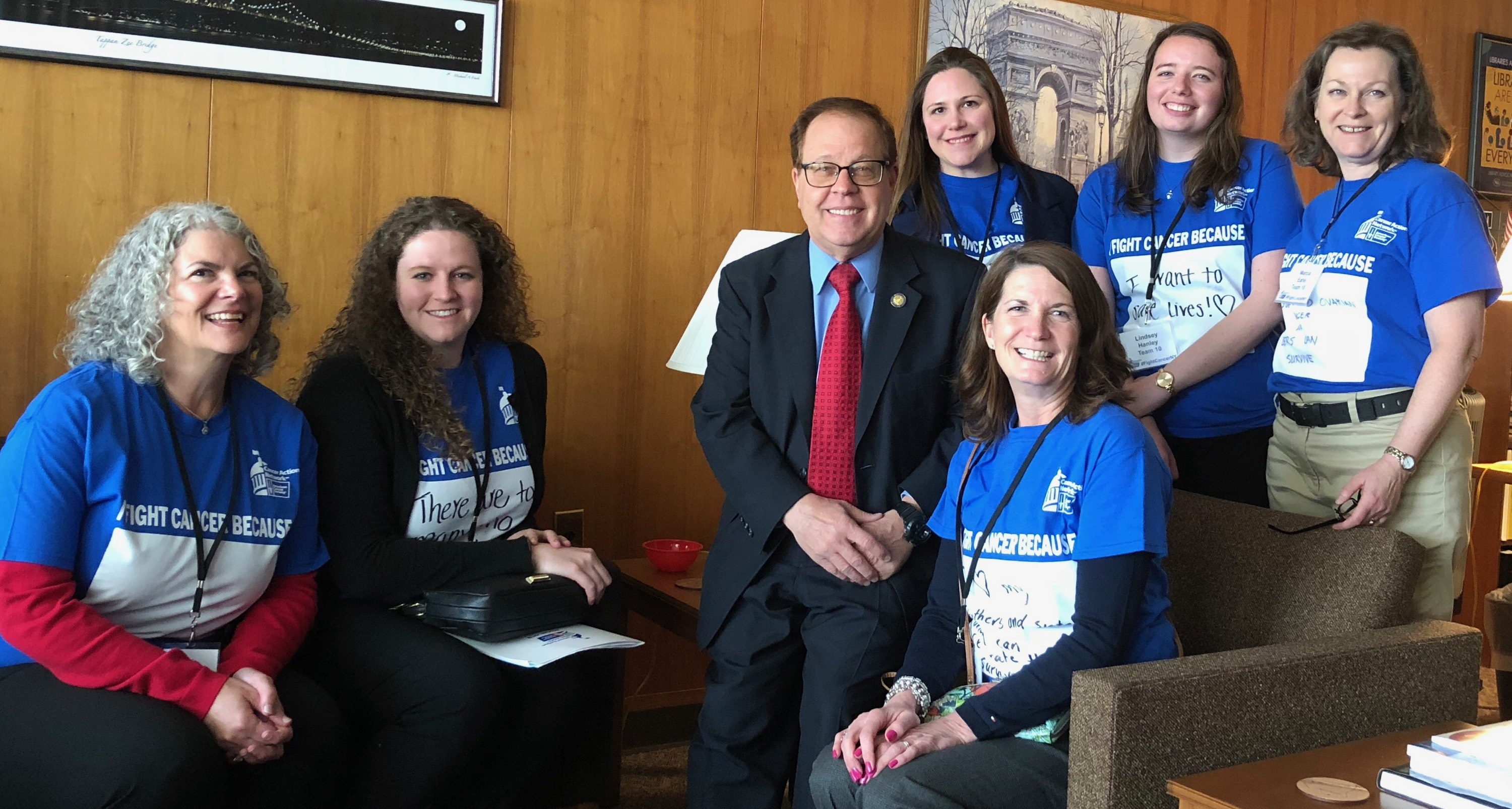 Assemblyman Abinanti met with representatives of the Cancer Action Network in Albany.