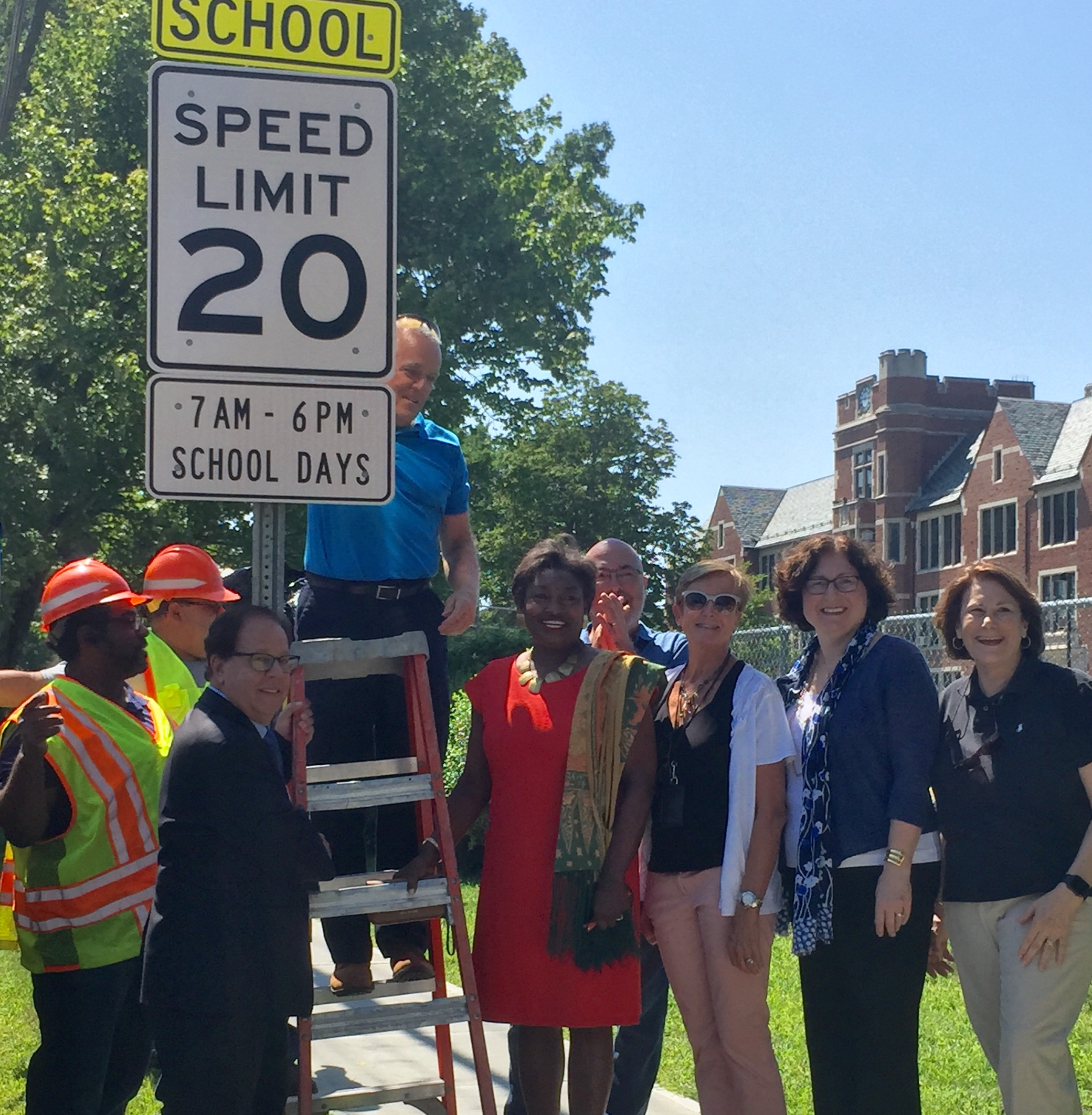 Assemblyman Abinanti 's office helped obtain a new traffic calming sign on Route 9 in Dobbs Ferry.