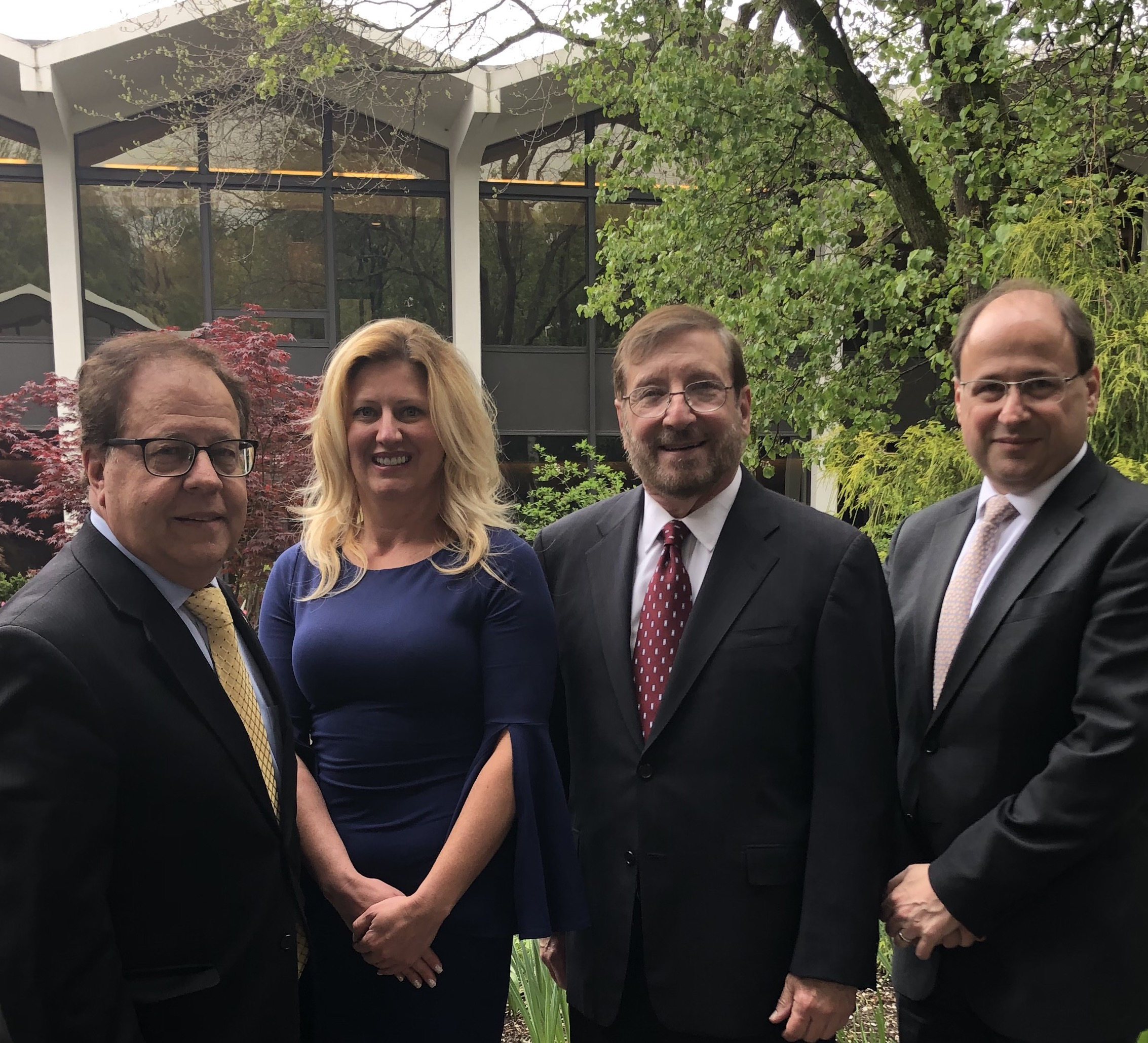 Assemblyman Abinanti met with Amanda Muth, Dr. Robert Amler, and Dr. David Markenson about NYMC's Disaster Medicine Program.