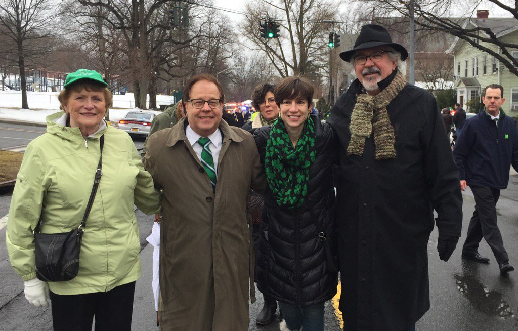 Assemblyman Abinanti attended the St. Patrick's Day Parade in Sleepy Hollow.