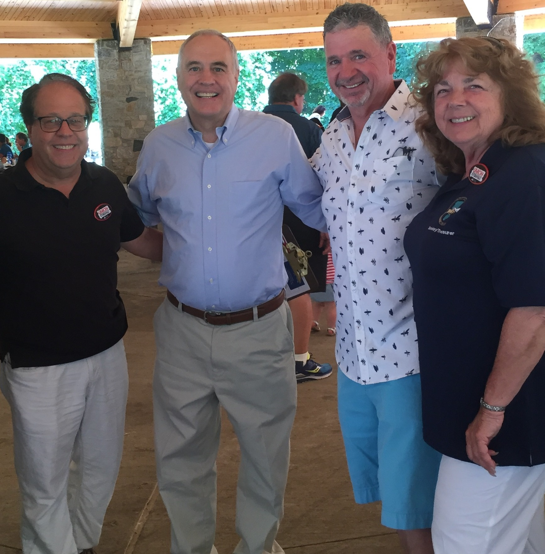 Assemblyman Abinanti at a Labor Picnic at Secor Woods Park with State Comptroller Tom DiNapoli and labor leaders.