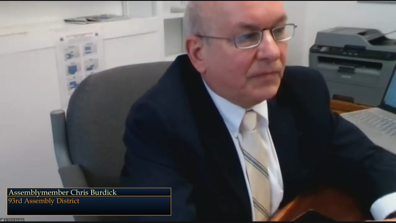 Burdick Questions OPWDD Commissioner During Budget Hearing on Mental Hygiene
