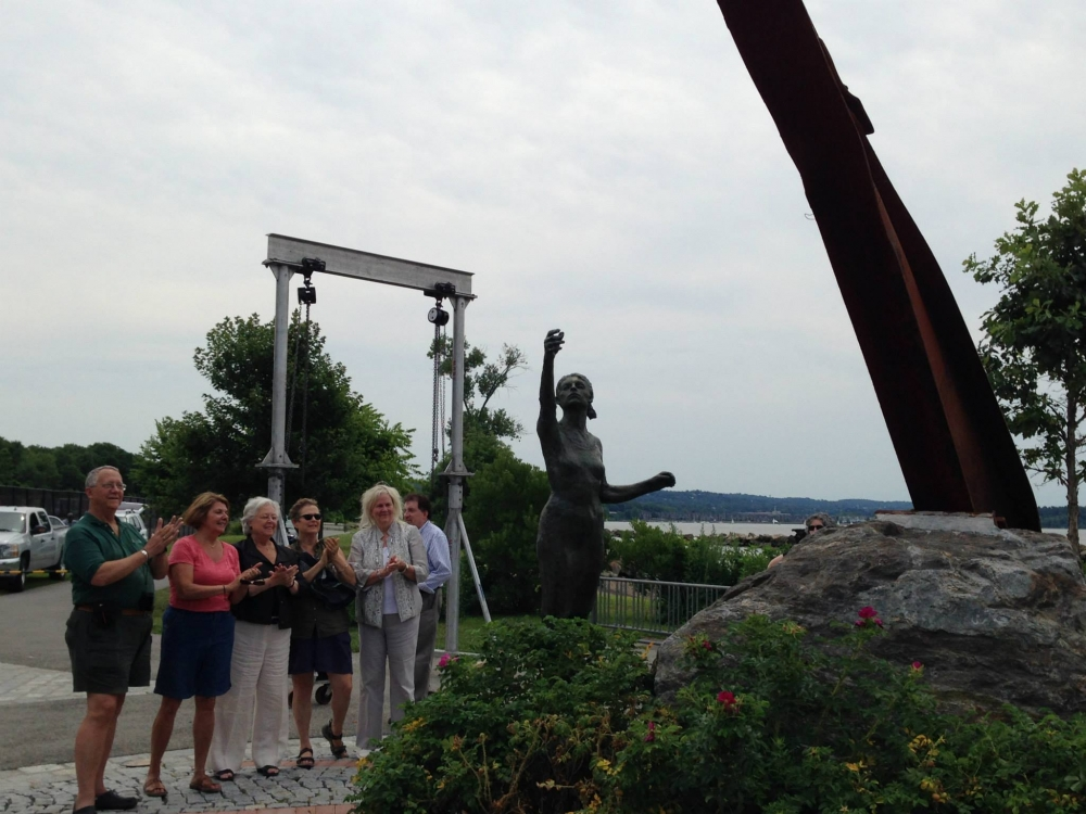 Sandy watched the completion of the installation at the Buchanan/Cortlandt/Croton 9/11 Remembrance Memorial, located on Croton's waterfront.