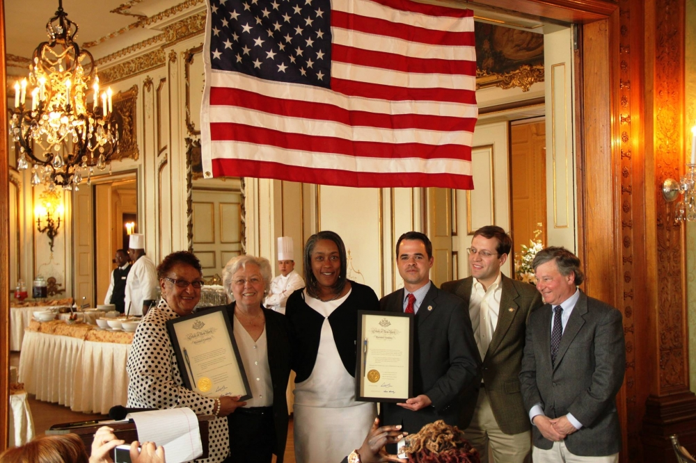 Sandy, along with Senator David Carlucci and her Assembly colleagues, presented Thomasina Laidley-Brown and Sheila Lilley of Ossining with a copy of the Boating Safety Law signed by the governor which