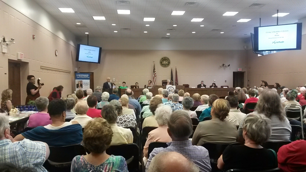 Sandy held her Annual Senior Forum in July, 2016 at the Cortlandt Town Hall. Speakers included Putnam County Sheriff Don Smith, NYS Comptroller Thomas DiNapoli, Laura Palmer from the AARP, Dr. Surbhi