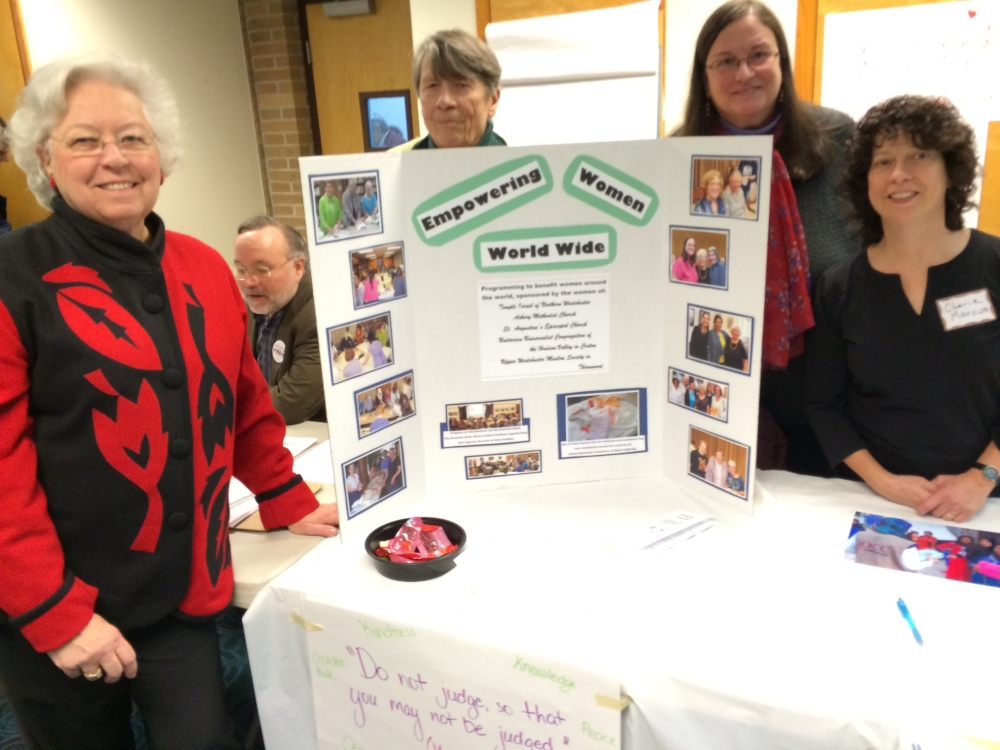 Sandy joined some of her constituents at the Croton Justice Fair in January 2016.