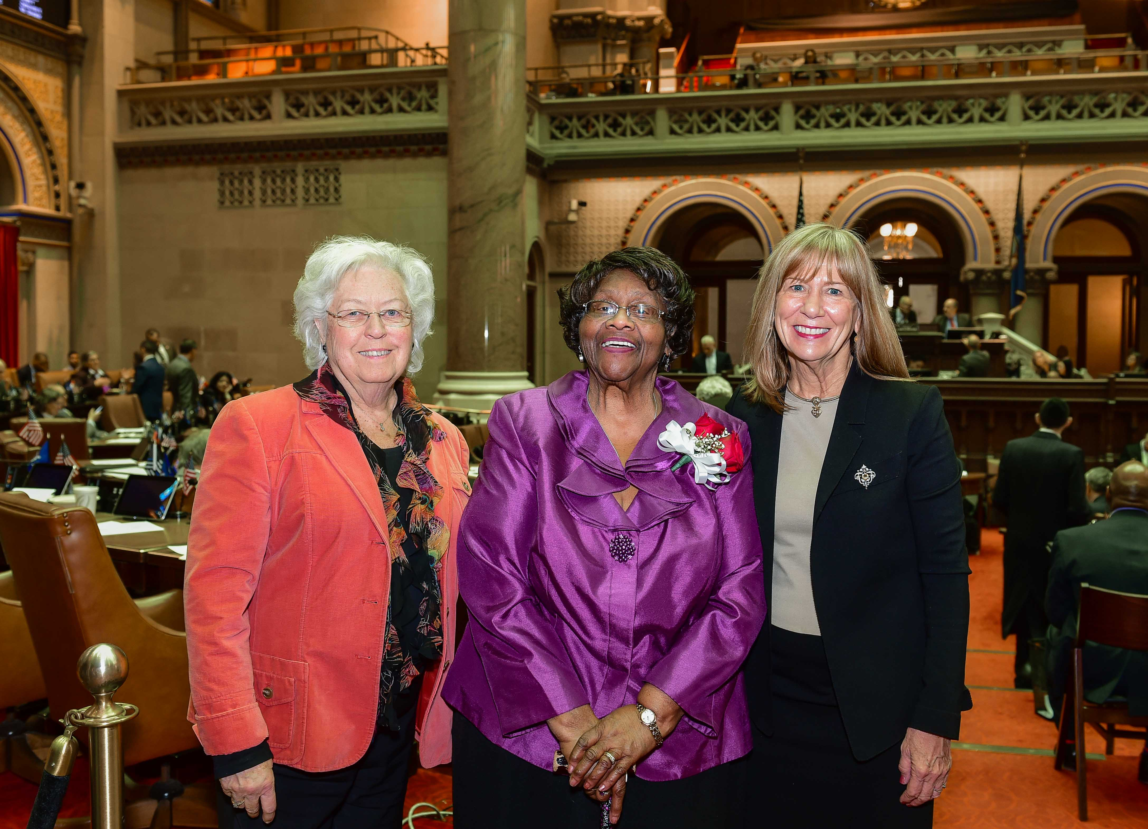 Sandy honored Reverend Jeannette Phillips from Peekskill on the Assembly floor in recognition of Black History Month. She launched Hudson River Health Care Center in Peekskill forty-four years ago to