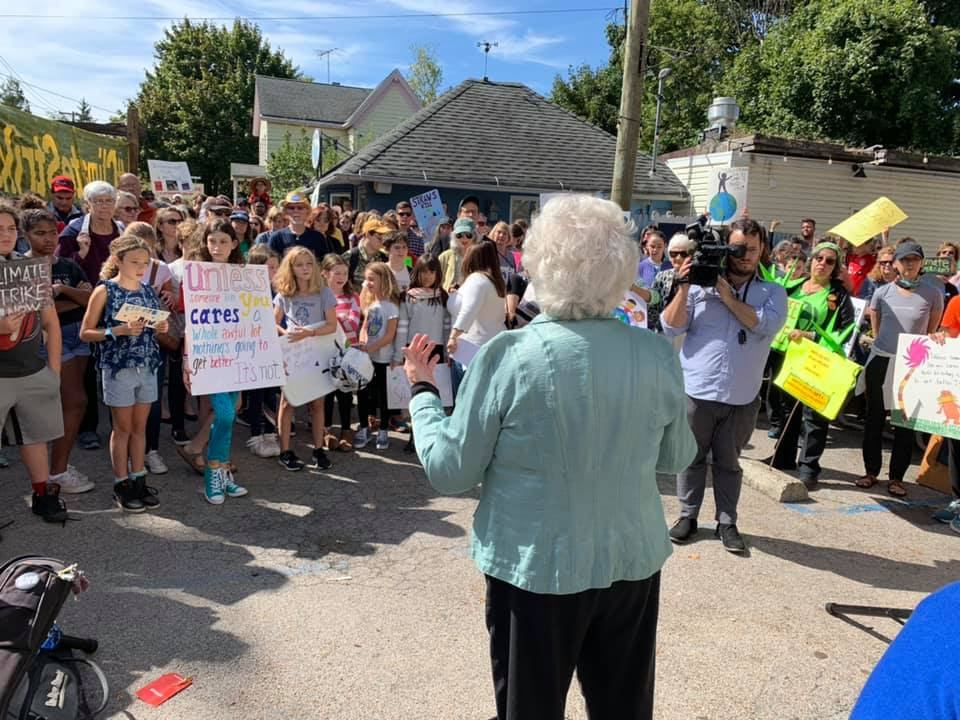 Sandy joined students from the Croton School District as they demonstrated in support of bold climate action.