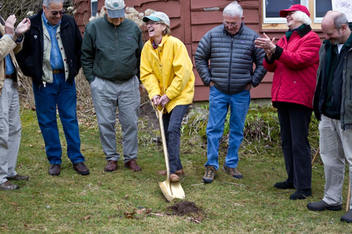 Aileen at the groundbreaking of the Catskill Fly Fishing Center & Museum in Livingston Manor.