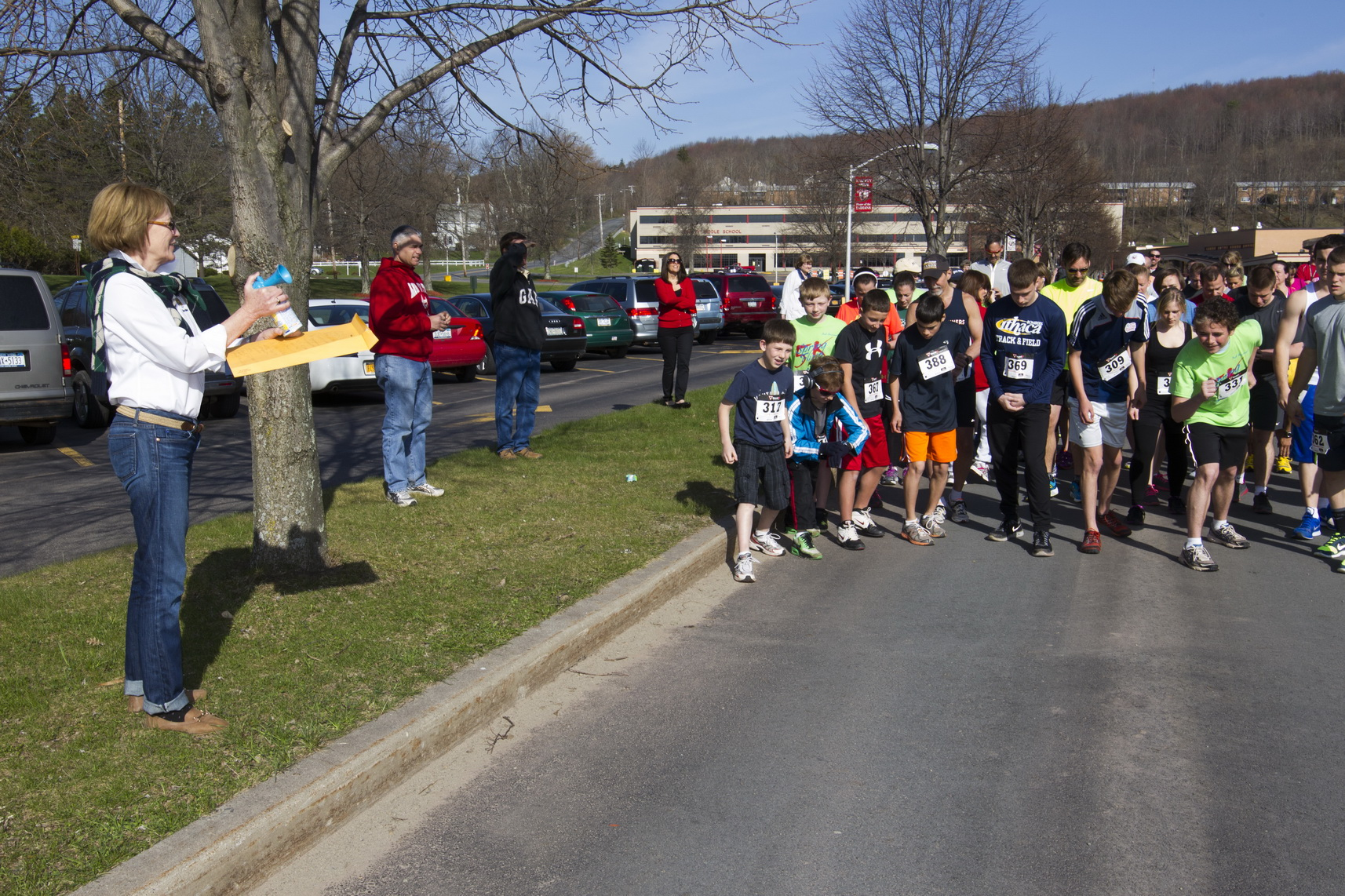 For the second year in a row, Assemblywoman Aileen Gunther sounded the start of the Liberty High School Annual Spring Fling 5K.