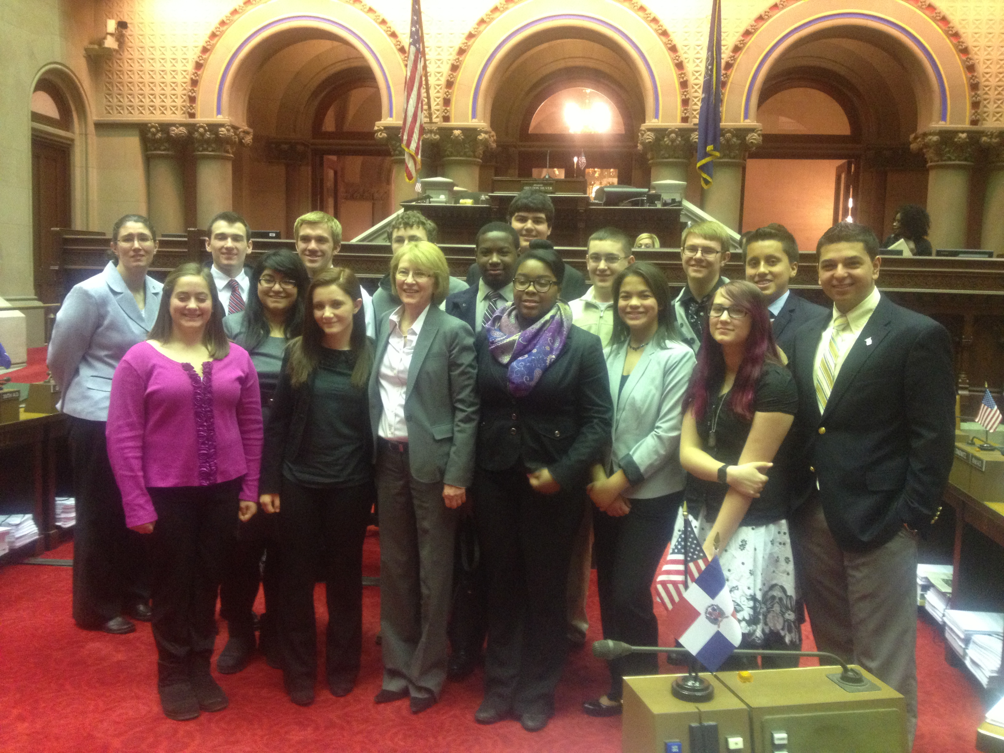 Assemblywoman Gunther was visited by members of the Orange County Youth Bureau in Albany.