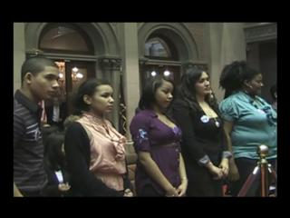 Assemblywoman Gunther introduces students and representatives from various programs in Orange County