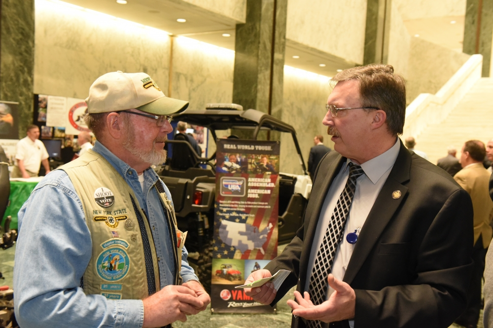 Assemblyman Brian Miller discussing issues that matter to New York's outdoorsmen and women