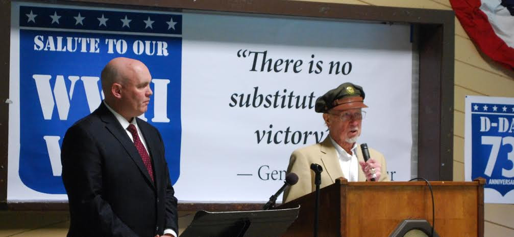 (left to right) Assemblyman Lalor and D-Day veteran Carl Alexanderson of Wingdale