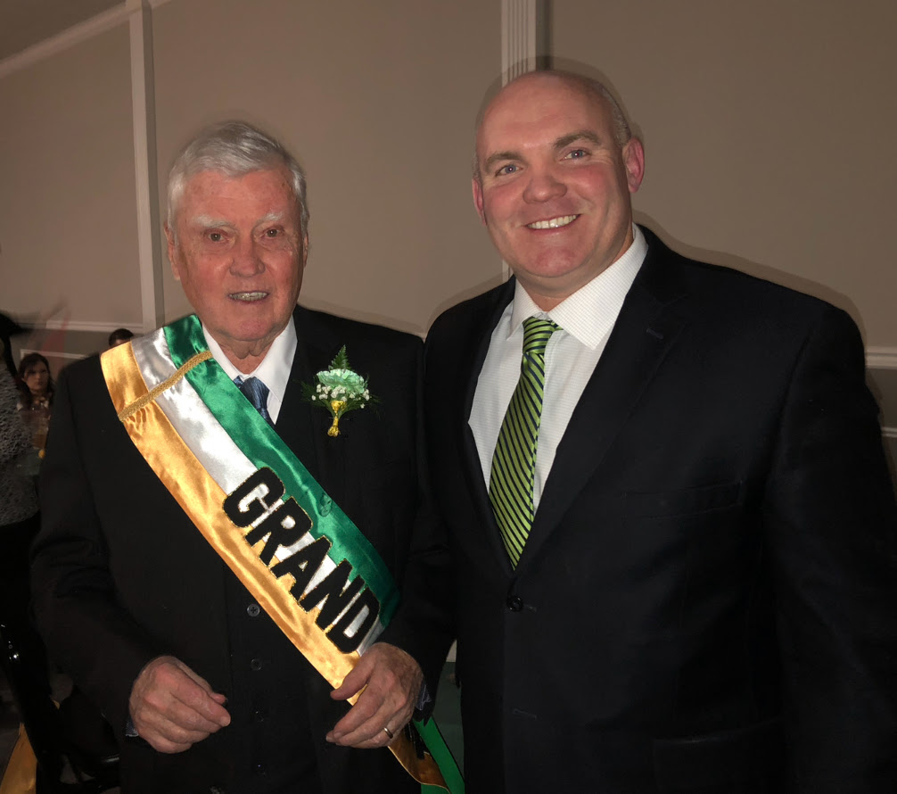 Grand Marshal Bill O'Hare and Assemblyman Kieran Lalor
